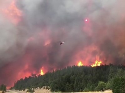 Wildfire scorches Northern California Highway
