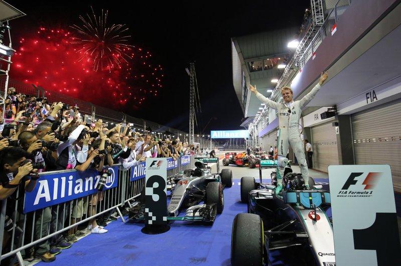 Circuito Callejero De Marina Bay : F1: alemán nico rosberg de mercedes gana gp de singapur