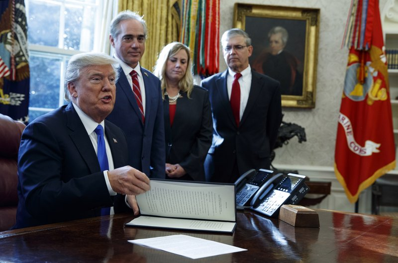 Trump orders more mental health care options for veterans
