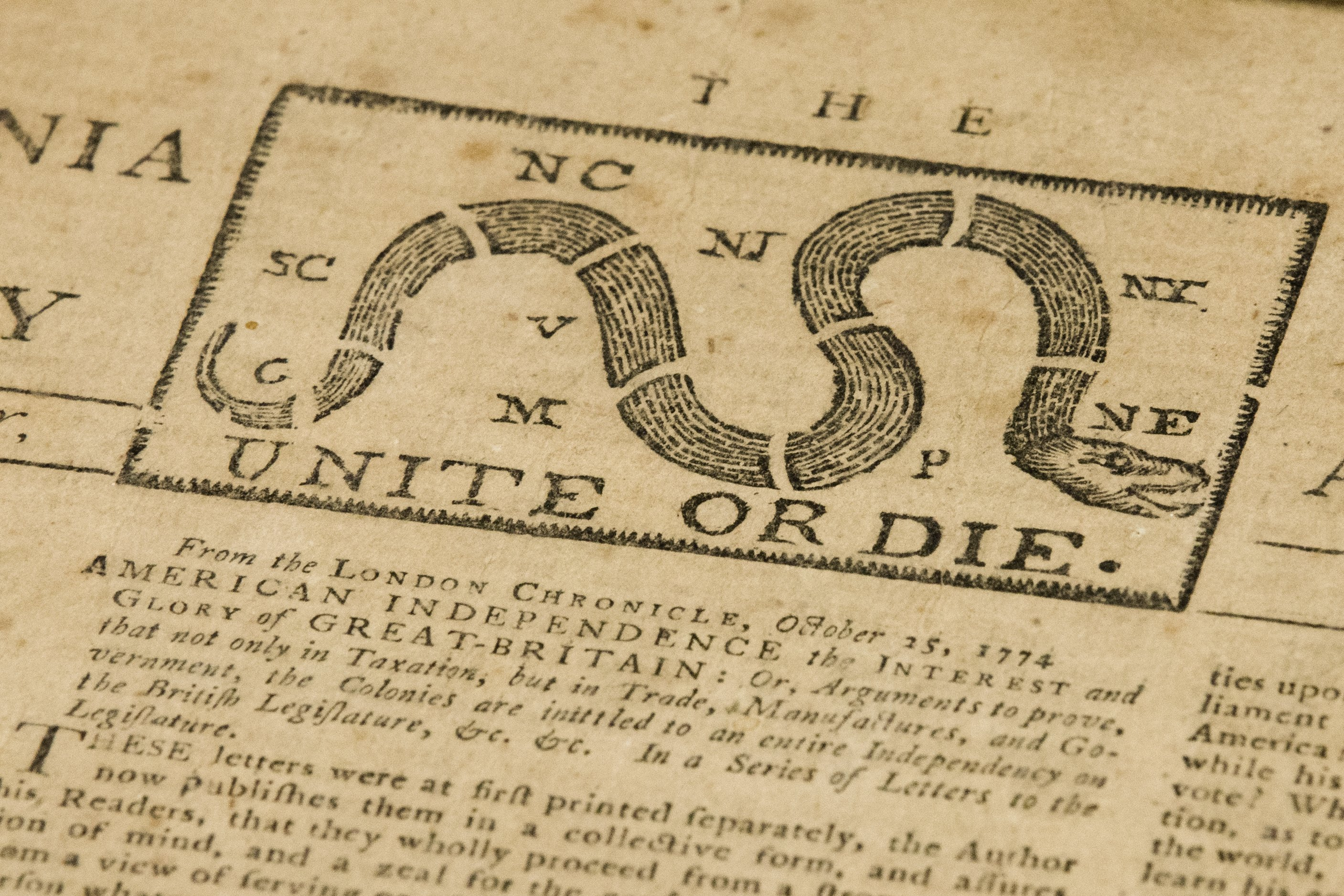 Goodwill workers in NJ find original 1774 'rebel' newspaper