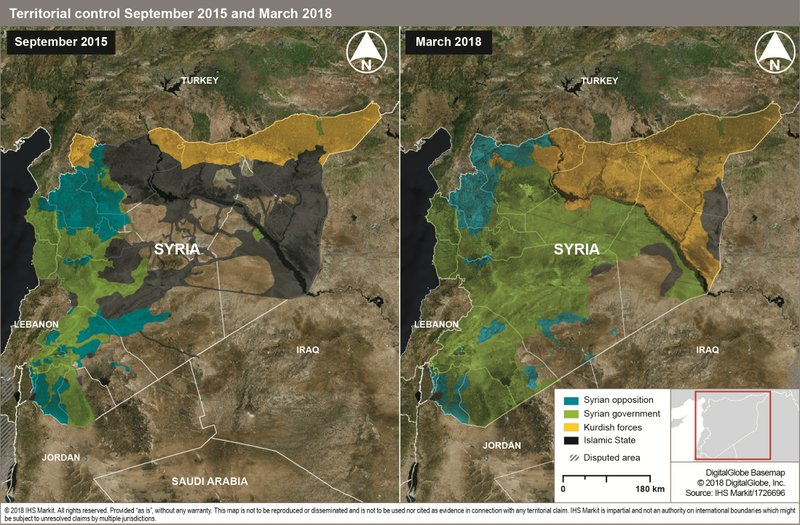 Use of Airstrikes in Syrian Conflict Rose by 150 Percent after Russian Intervention, Jane's by IHS Markit Says