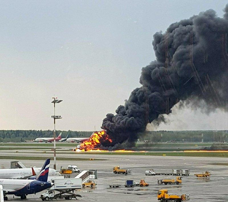 Image result for At least 40 dead in Russian plane's fiery emergency landing AP