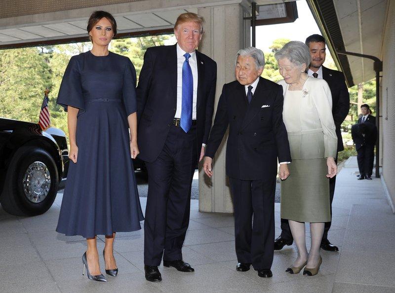 Donald Trump, Melania Trump, Akihito, Michiko