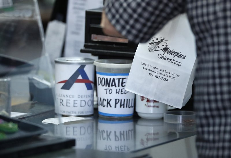 Masterpiece Cakeshop, donations tins for legal defense of Jack Phillips