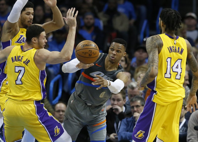 Russell Westbrook, Larry nance Jr., Brandon Ingram