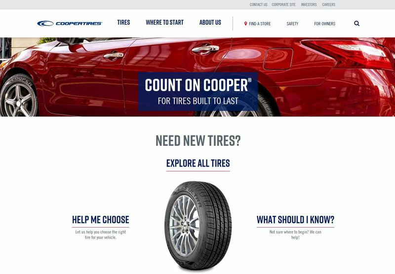 Coopertire.com Earns Best Manufacturing Website Award in Internet Advertising Competition