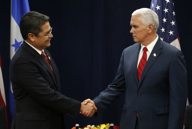 Juan Orlando Hernandez, Mike Pence