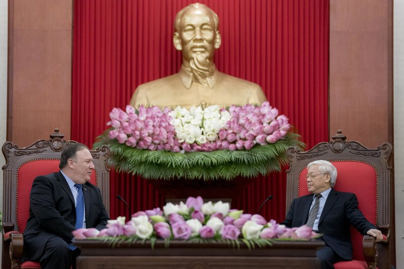 Mike Pompeo, Nguyen Phu Trong
