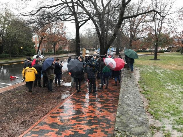Dueling groups rally at UNC after removal of more monuments