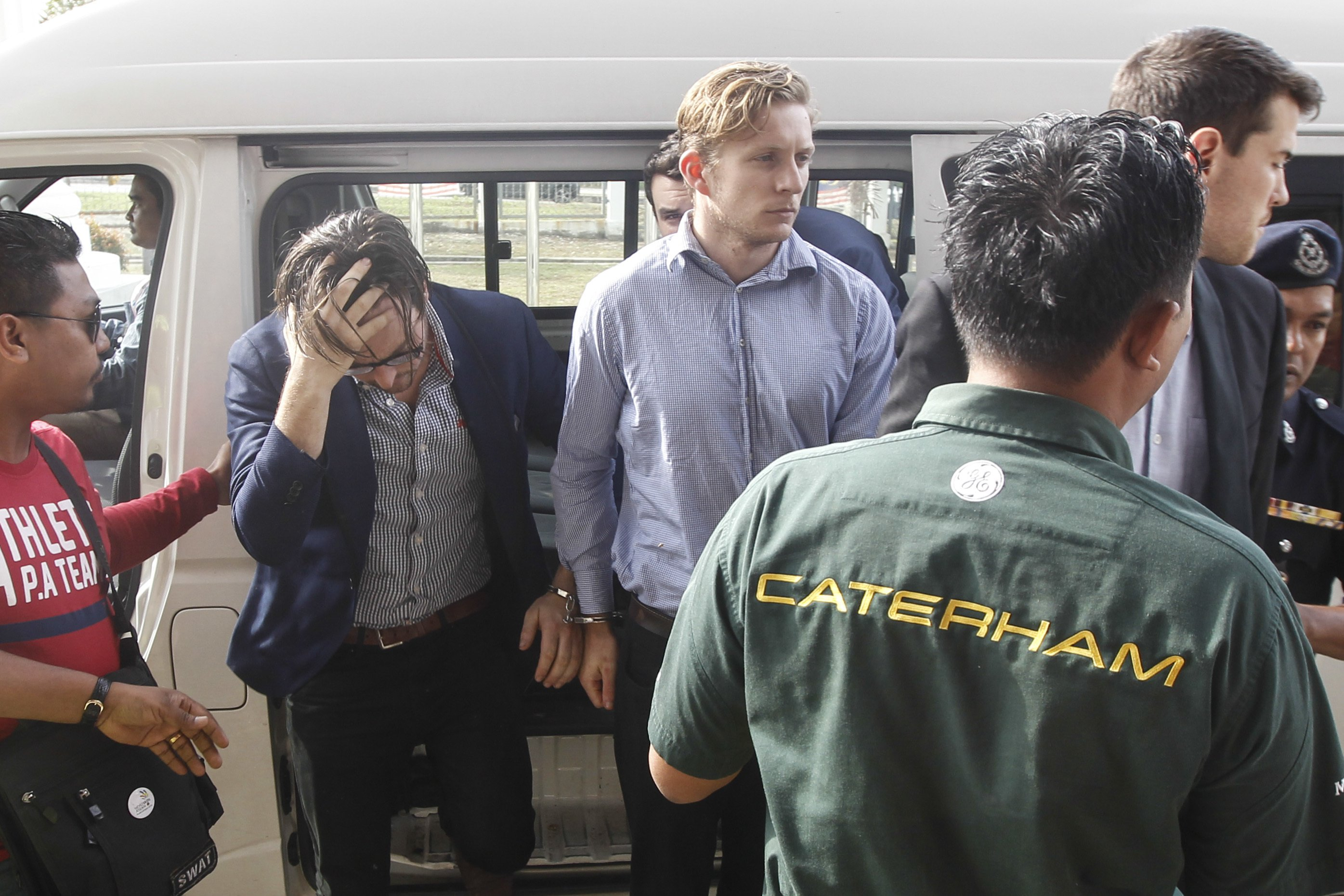 Aussies appear in Malaysian court for partying in briefs