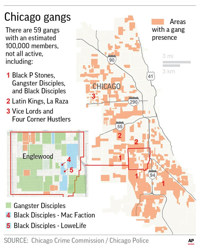 Chicago Gangs Map A look at today's Chicago gangs and how they've changed