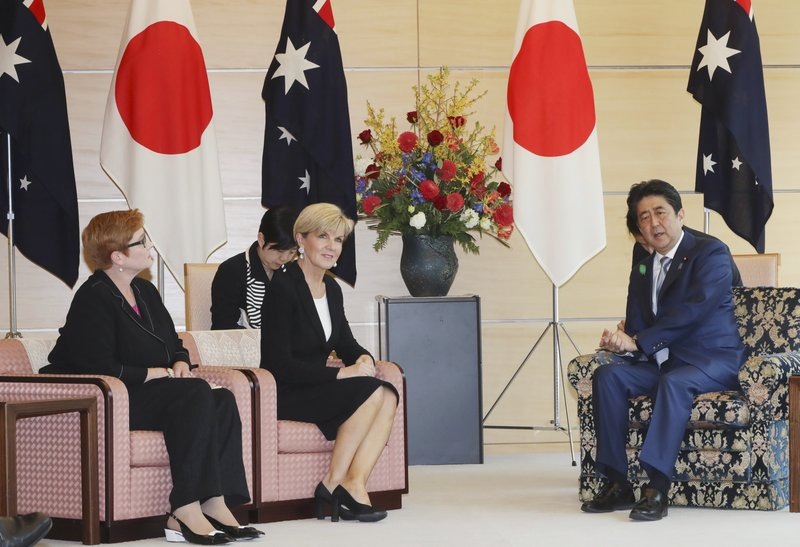 Shinzo Abe, Julie Bishop, Marise Payne