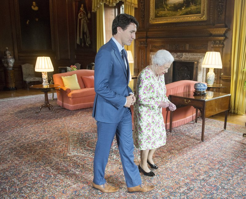 Canada's Trudeau meets Queen Elizabeth II on Scotland visit
