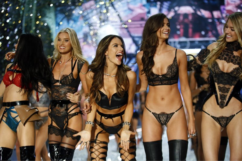 0ca4f9dc32 Models display creations during the Victoria s Secret Fashion Show inside  the Grand Palais