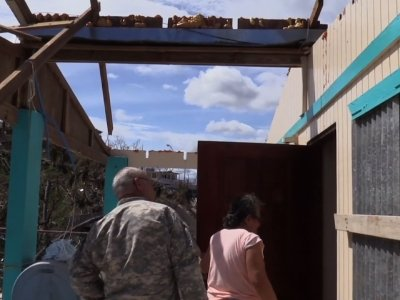 Raw: Aid Delivered to Cities in Puerto Rico