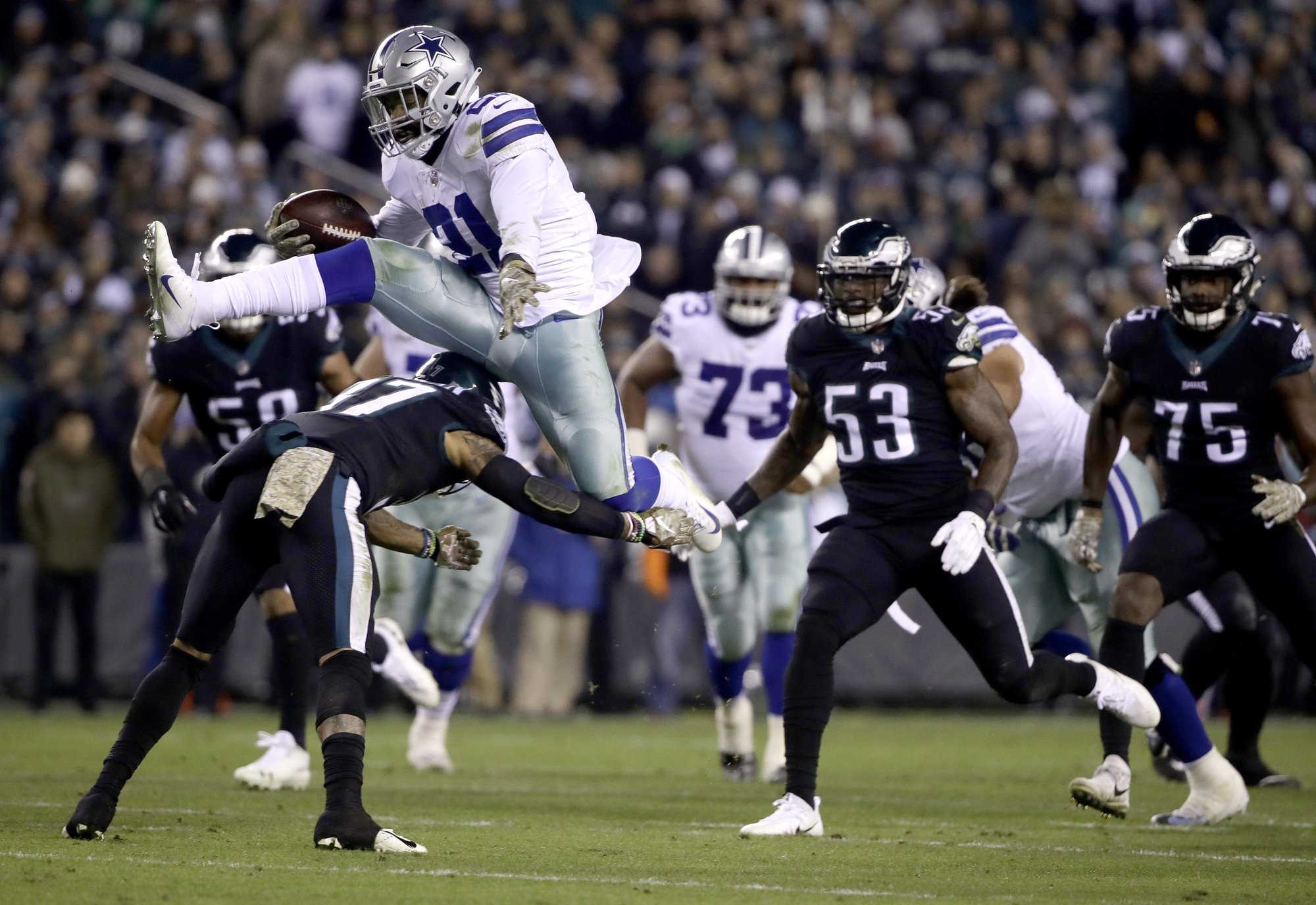 Image result for ezekiel elliott leap eagles