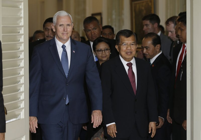 Mike Pence,Jusuf Kalla