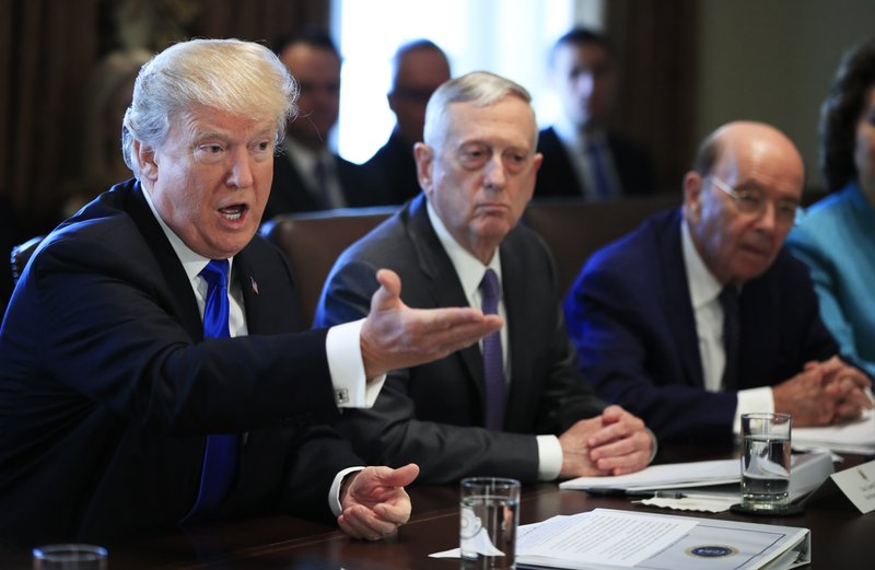 Donald Trump, Jim Mattis, Wilbur Ross