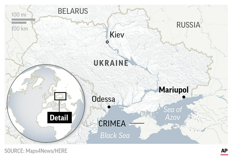 The Latest: Security Council to meet over Russia, Ukraine on canada russia map, croatia russia map, soviet russia map, sochi russia map, yalta map, grossliebental russia map, moldova russia map, europe and russia map, kazan russia map, black sea map, ukraine map, kiev russia map, volga river russia map, moscow russia map, crops in russia map, crimean war map, odessa russia map, ural mountains russia map, israel russia map, kaliningrad russia map,