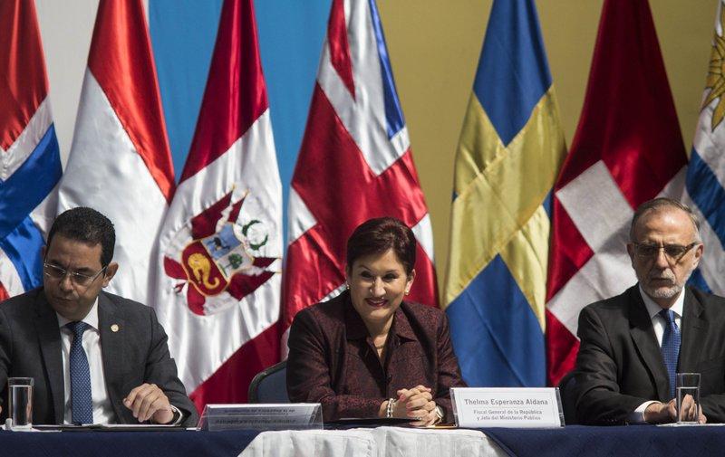 Thelma Aldana, Ivan Velasquez, Jimmy Morales