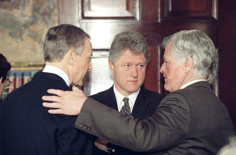 Bill Clinton, Orrin Hatch, Edward Kennedy
