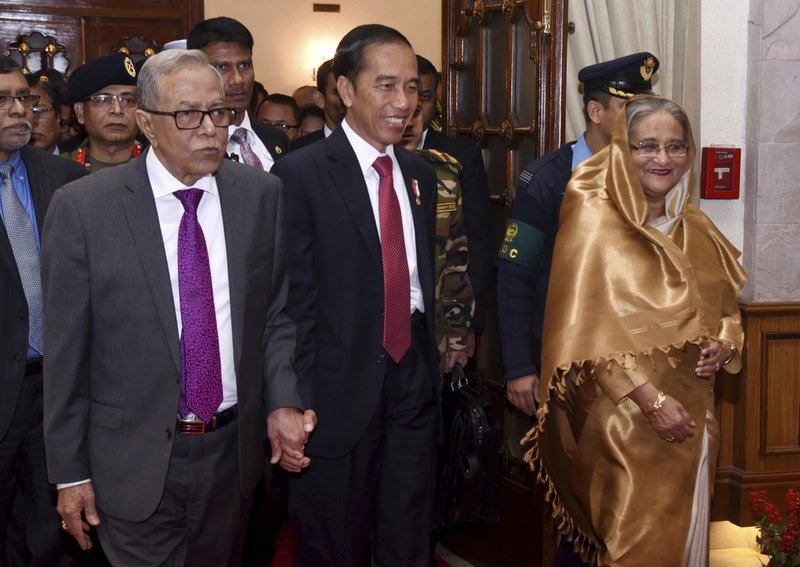 Sheikh Hasina, Abdul Hamid, Joko Widodo