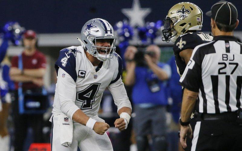 buy popular 9409c f7d7e Cowboys stifle Brees, end Saints' 10-game win streak, 13-10