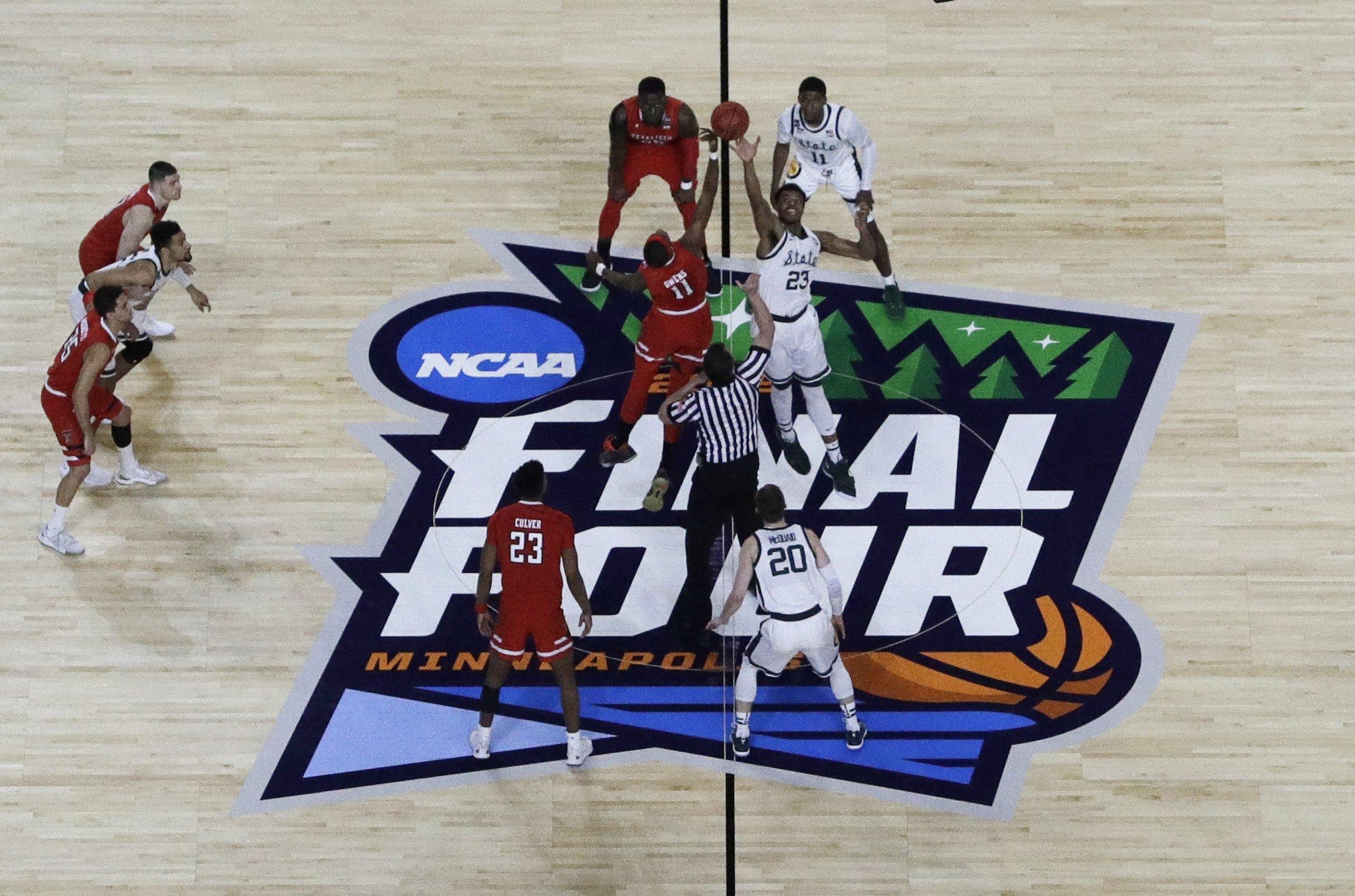 NCAA Latest: Texas Tech-MSU under way as Virginia waits