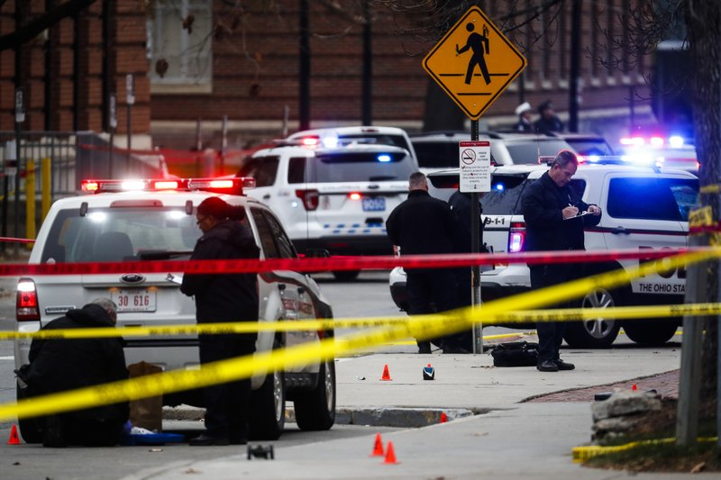 The Latest: Pence says 'hearts go out' to Ohio State victims