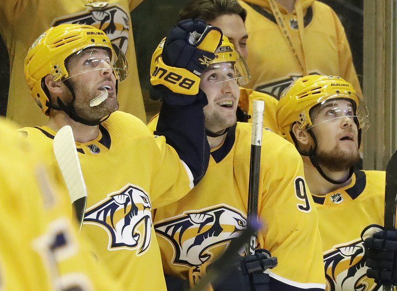 Mike Fisher, Filip Forsberg, Viktor Arvidsson