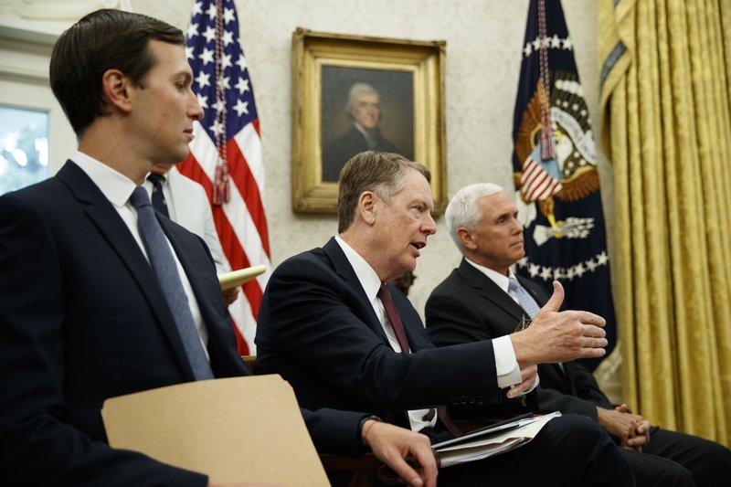 Mike Pence, Jared Kushner, Robert Lighthizer