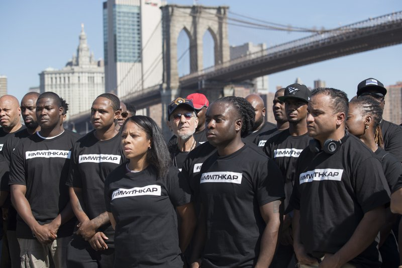 NYPD officers hold rally for Colin Kaepernick