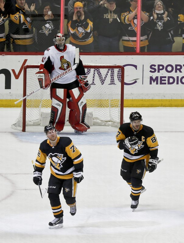 Patric Hornqvist, Sidney Crosby, Craig Anderson