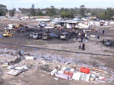 Raw: Car Bomb Kills 59 In Baghdad