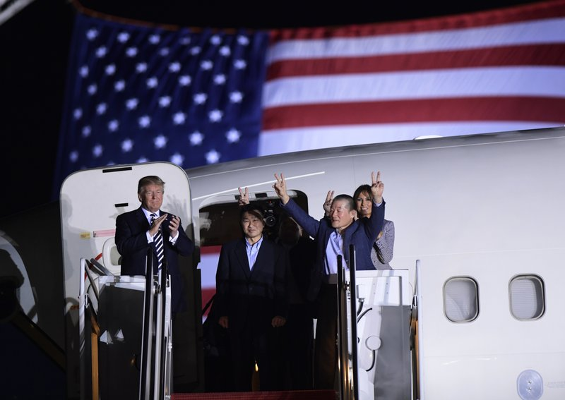 Donald Trump, Tony Kim, Kim Hak Song, Kim Dong Chul, Melania Trump