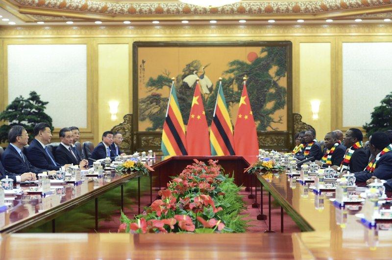 Xi Jinping, Emmerson Mnangagwa