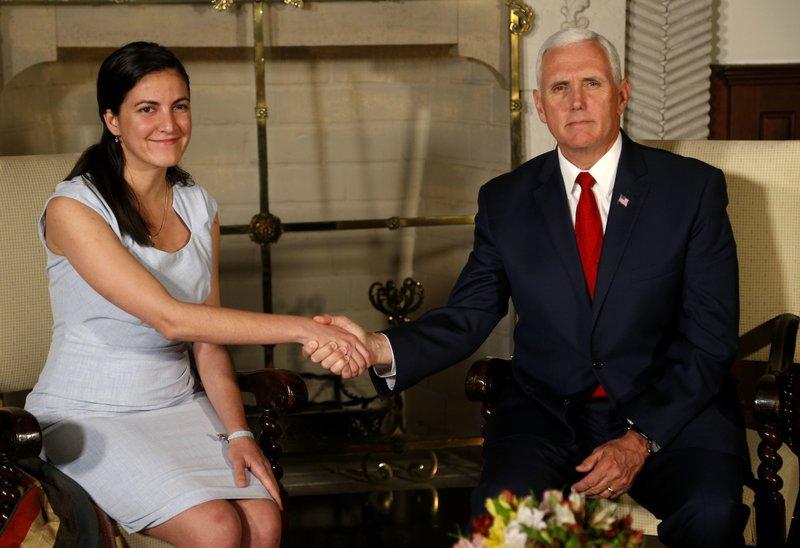 Rosa Maria Paya, Mike Pence