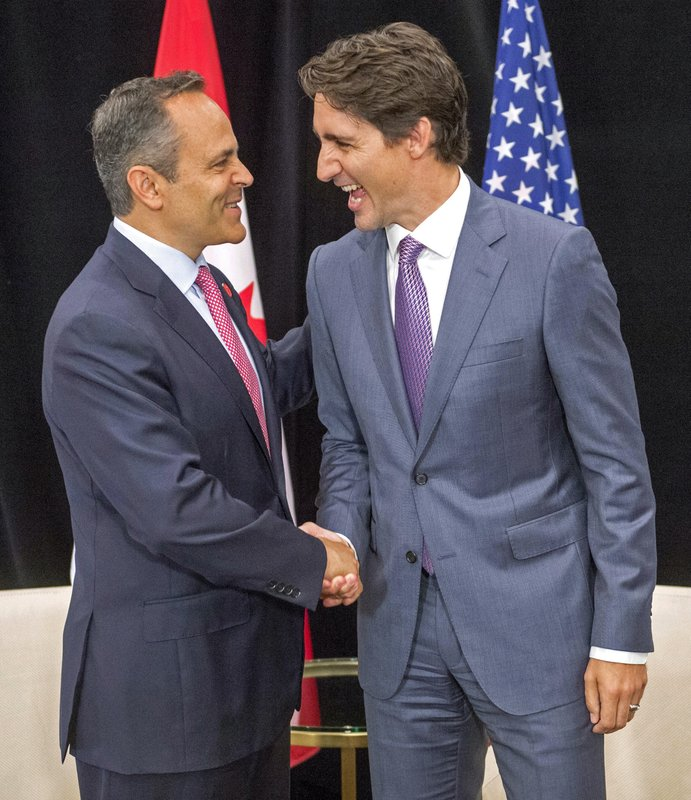 Justin Trudeau, Matt Bevin