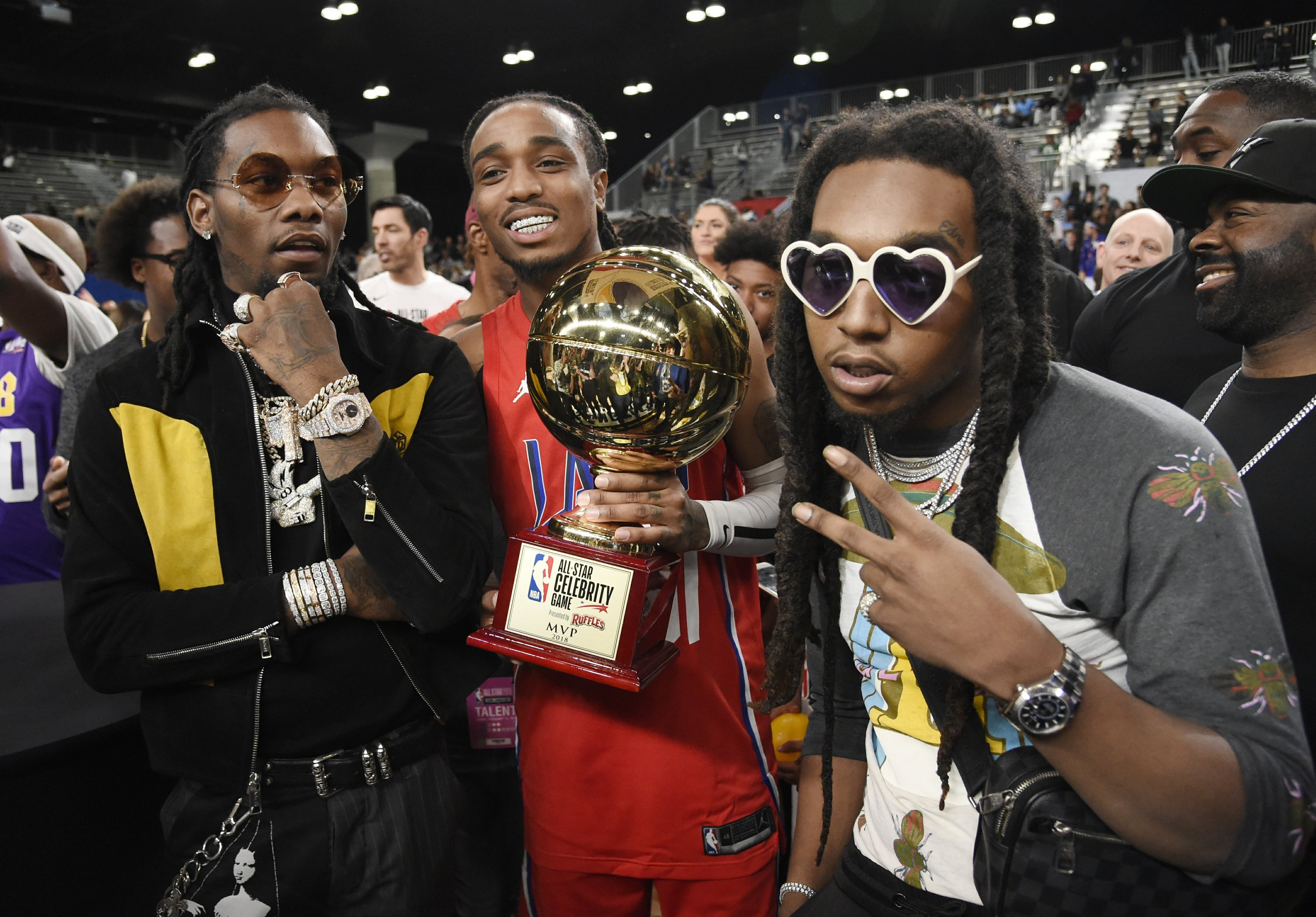 c44555a43 Migos star shines in celebrity game