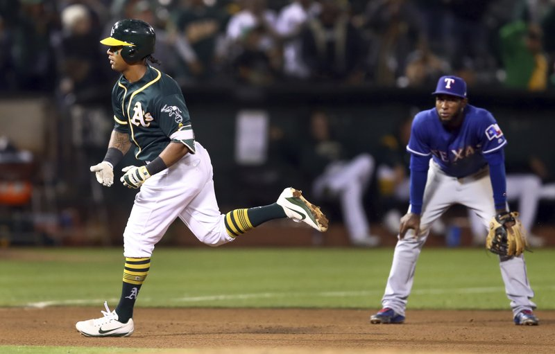new concept c8f70 f1eee Davis connects again for 38th home run, A's blank Rangers