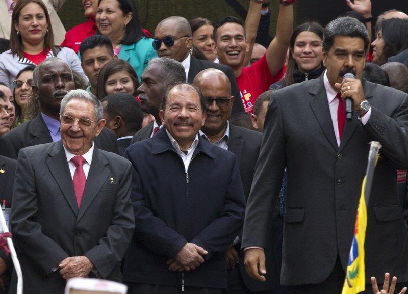 Nicolas Maduro, Daniel Ortega Raul Castro
