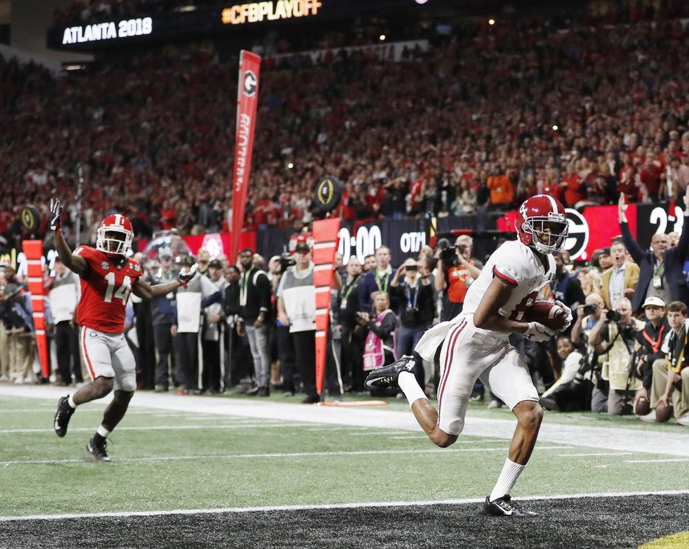 91508fefe ATLANTA (AP) — Alabama s walk-off touchdown for its latest championship win  will certainly dominate much of college football s offseason.