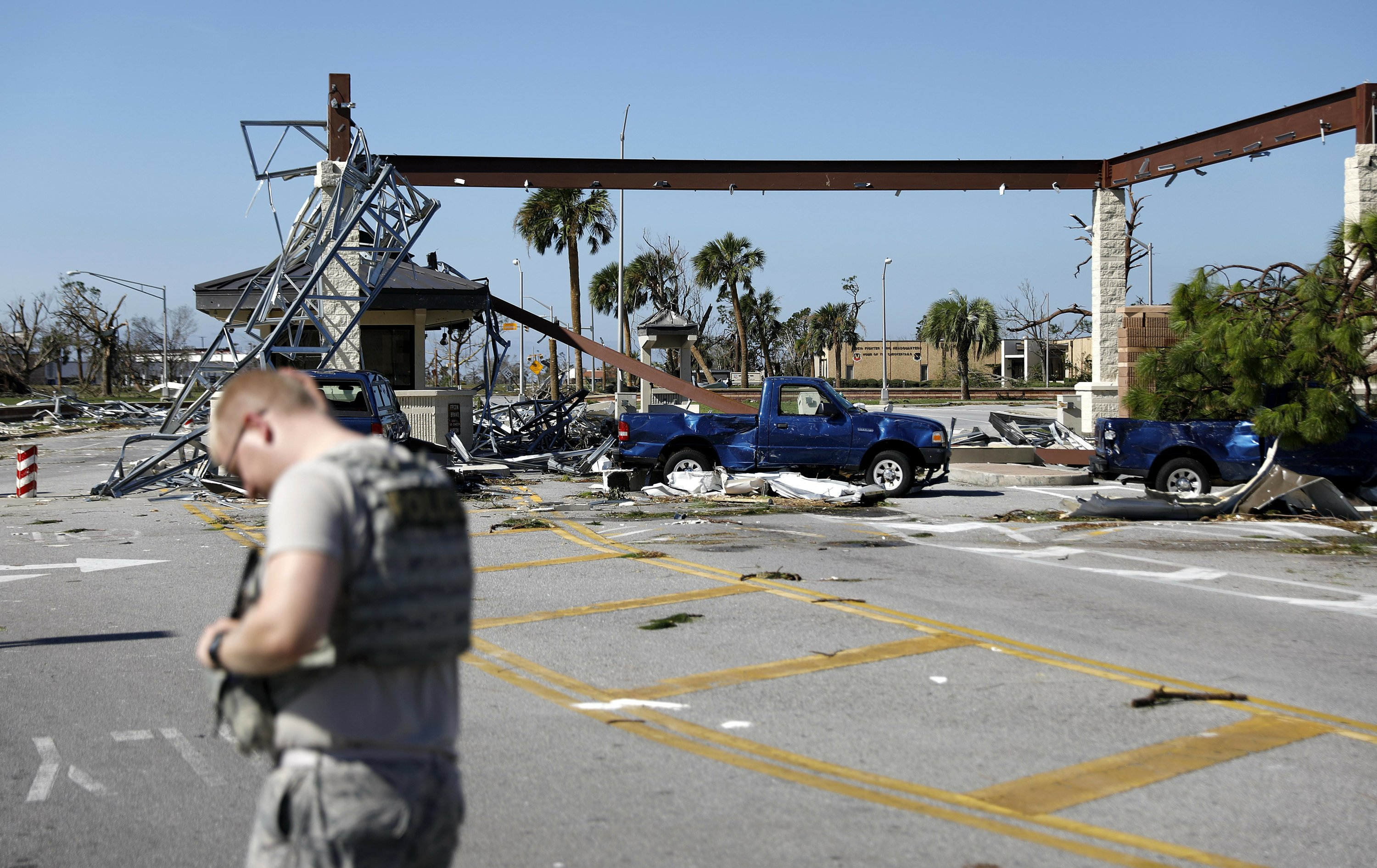 Tyndall air force base sustains 39 catastrophic 39 damage for Tyndall afb alloggio cabine