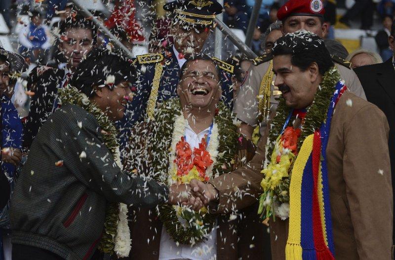 Evo Morales, Rafael Correa, Nicolas Maduro