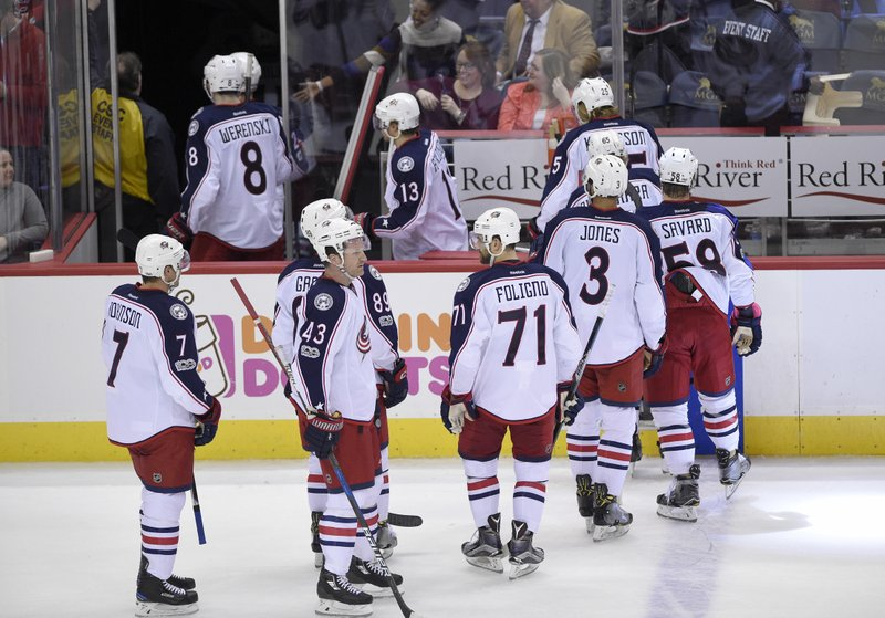 Capped off: Blue Jackets' streak snapped at 16 in Washington