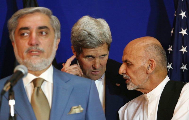 Ashraf Ghani Ahmadzai, Abdullah Abdullah, John Kerry