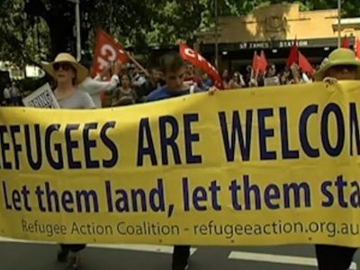 Raw: Pro-Refugee Demonstration in Australia