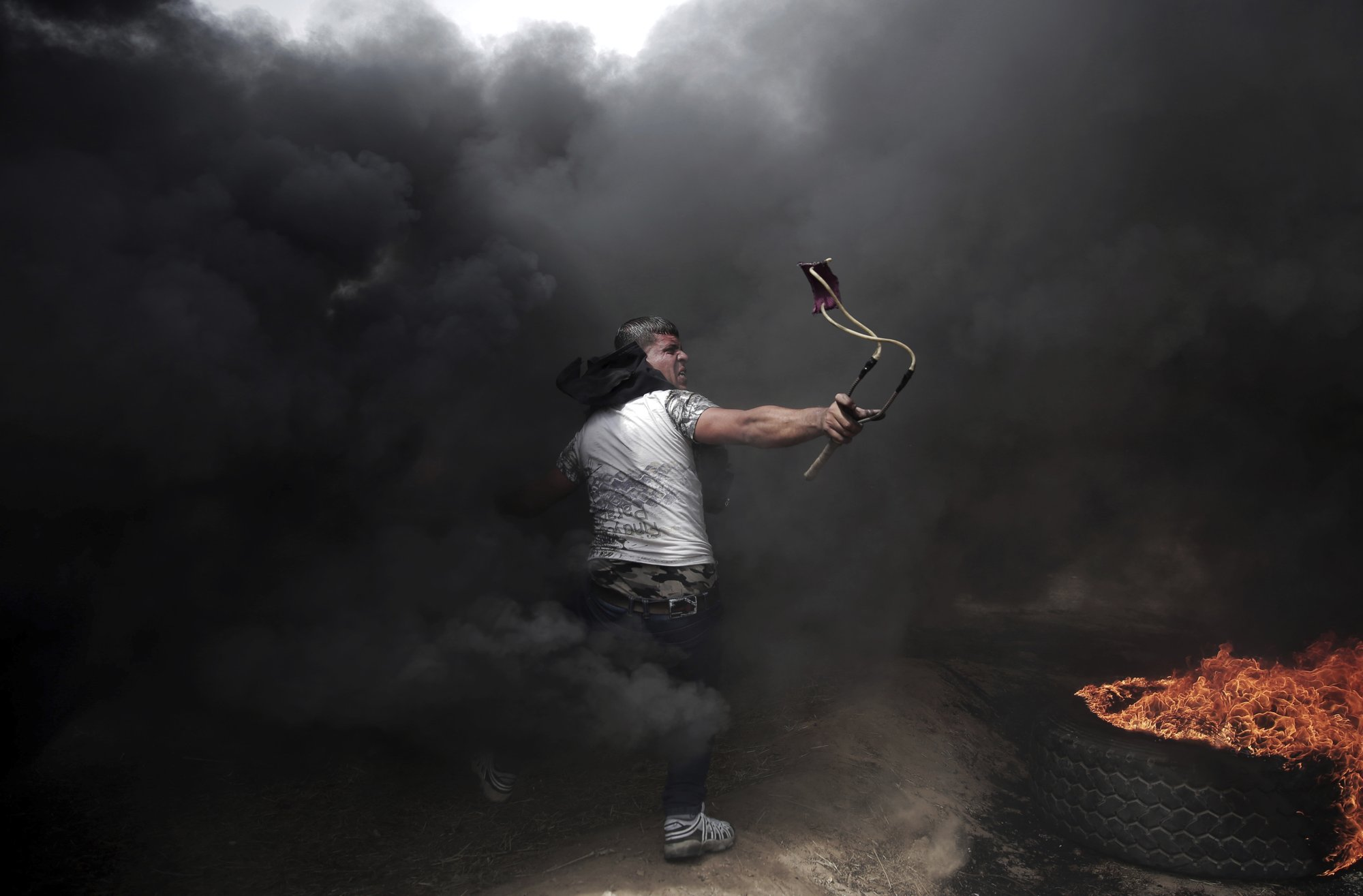AP PHOTOS: Gaza images on display in France show resilience