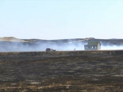 Raw: Fires Burn 390 Sq. Miles in Eastern Montana