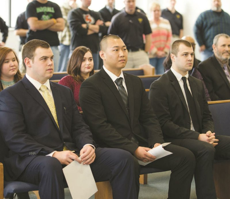 Huntington Police Department swears in three new officers